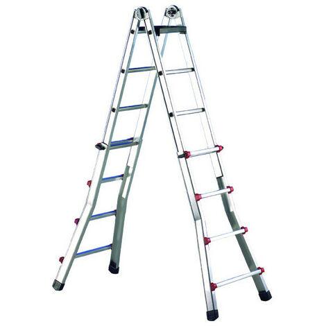 Escalera telescópica de aluminio Svelt Escalisima