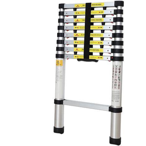 Escalera Telescópica, Escalera Plegable, 2,6 Metro(s), EN 131-6, Brecha extra, Carga máxima: 150 kg