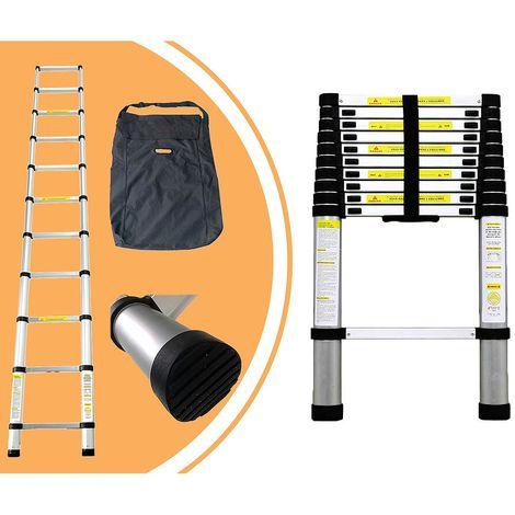 Escalera Telescópica, Escalera Plegable, 3,2 Metro(s), Bolsa de transporte GRATIS, EN 131, Carga máxima: 150 kg