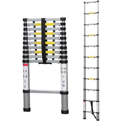 Escalera Telescópica, Escalera Plegable, 3,2 Metro(s), EN 131-6, Brecha extra, Carga máxima: 150 kg