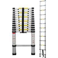 Escalera Telescópica, Escalera Plegable, 3,8 Metro(s), Bolsa de transporte GRATIS, Brecha extra, EN 131-6, Carga máxima: 150 kg
