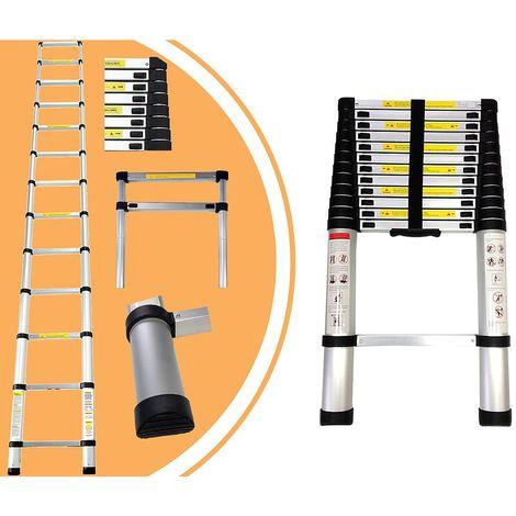 Escalera Telescópica, Escalera Plegable, 3,8 Metro(s), EN 131, Carga máxima: 150 kg