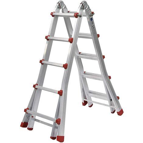 Escalera telescópica plegable profesional de aluminio (5+4).