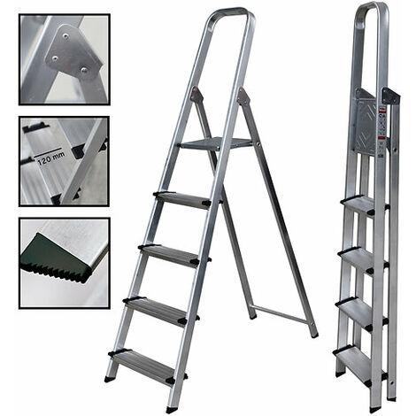 Escalera Tijera Aluminio Peldaño Ancho