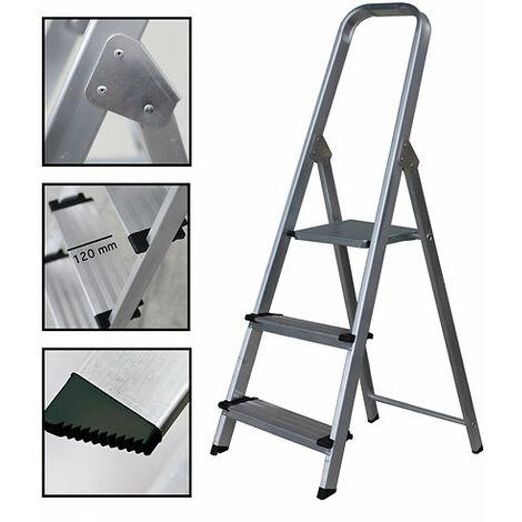 Escalera Tijera de Aluminio Peldaño Ancho 12 cm
