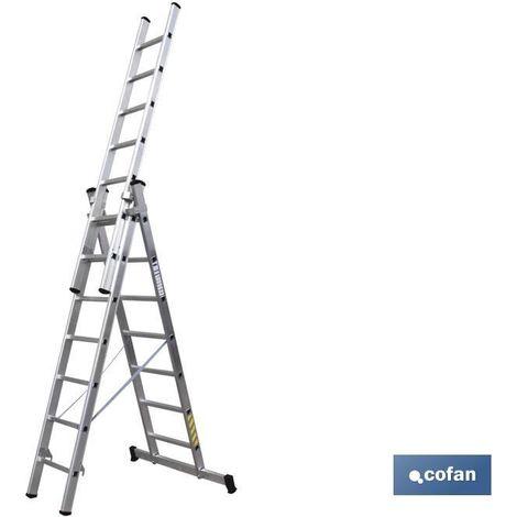 Escaleras Aluminio 3 tramos EN 131