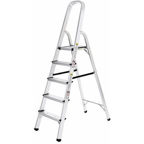 Escaleras Plegable de aluminio 5 peldaños Carga 150 kg GLT159