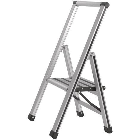 Escalerilla plagable 1 escalón aluminio