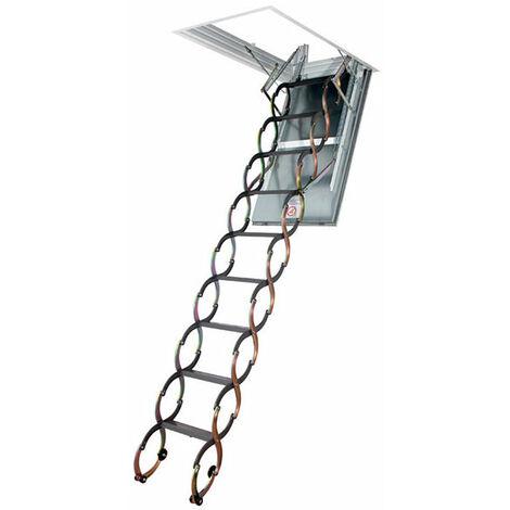 Escalier coupe feu - Résistance 60min - Hauteur plafond 2.40m à 3.00m (plusieurs tailles disponibles)