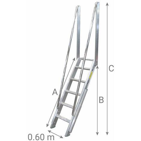 Escalier de meunier : 60cm de large (plusieurs tailles disponibles)