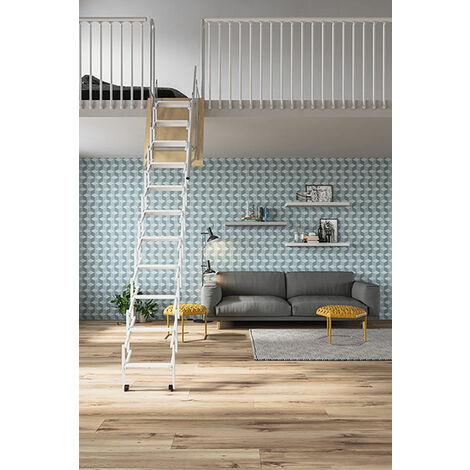 Escalier de meunier accordéon pour mezzanine (plusieurs tailles disponibles)