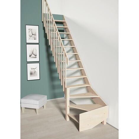 Escalier De Meunier avec quart de tour à gauche 70 cm - Bois de Pin