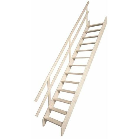 Escalier de meunier bois - Hauteur max. de la pièce de 290cm (plusieurs tailles disponibles)