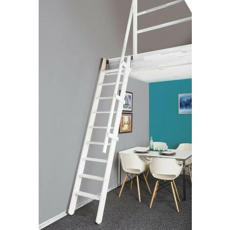 Escalier De Meunier Escamotable Extensible Pour Cage d'Escalier 60 X 90 cm - RAL 9010
