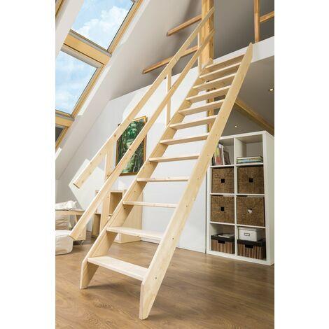 Escalier de meunier pour cage d'escalier 70 cm x 140 cm