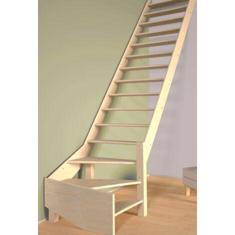 Escalier De Meunier quart de tour à droite 80 cm - Bois de Pin