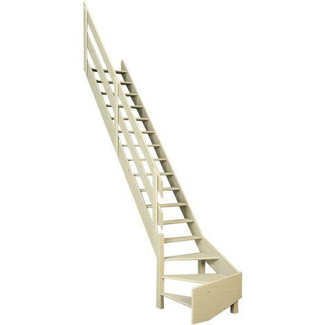 Escalier De Meunier quart de tour à gauche 65 cm - Bois de Pin
