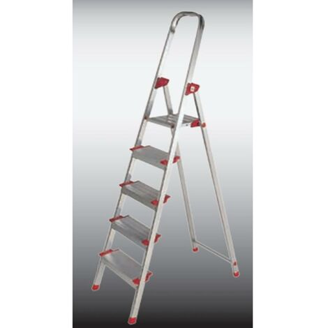 Escalier domestique 6 marches 1,23Mt Aluminium New Plus Ktl
