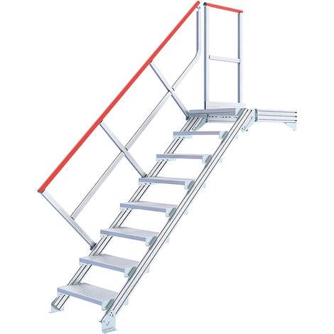 Escalier droit alu - Largeur de 100cm (plusieurs tailles disponibles)