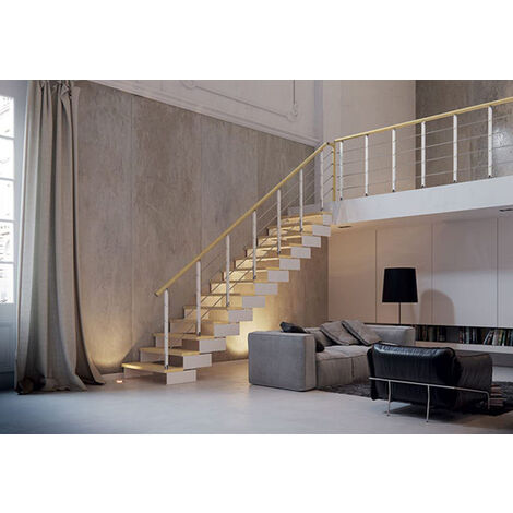 Escalier droit avec rampe modèle Minimal (plusieurs tailles disponibles)