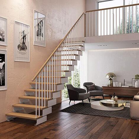 Escalier droit avec rampe modèle Tube (plusieurs tailles disponibles)