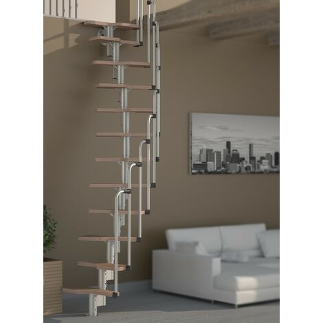 Escalier en colimaçon à faible encombrement multi-usages