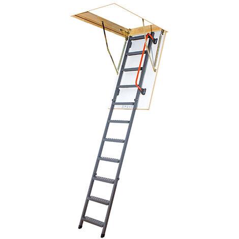 Escalier escamotable + 1 rampe - Hauteur max. sous plafond 2.80m (plusieurs tailles disponibles)