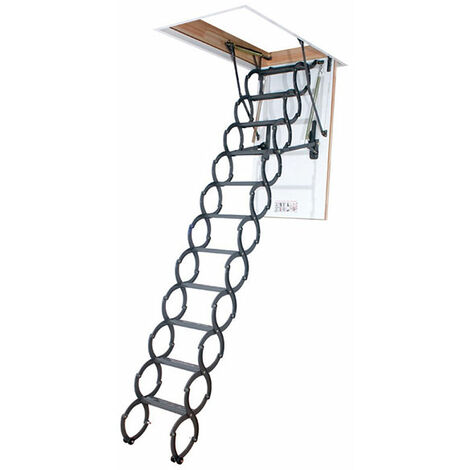 Escalier escamotable accordéon - Hauteur sous plafond de 3.10m a 3.30m (plusieurs tailles disponibles)