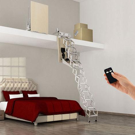 Escalier escamotable électrique pour mezzanine
