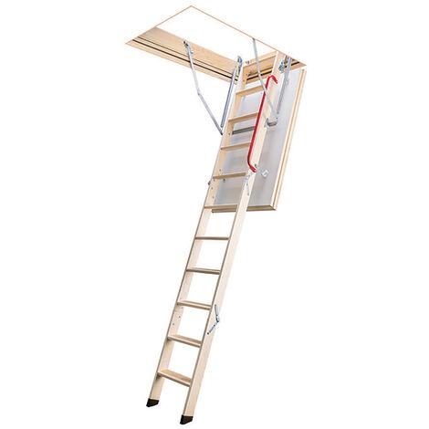 Escalier escamotable isolé - Haut. sous plafond 2.80m et long. trémie de 1.20 à 1.40m (plusieurs tailles disponibles)