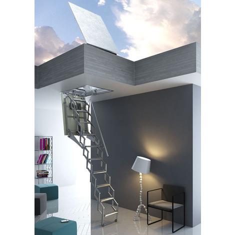 Escalier escamotable pour un accès terrasse (plusieurs tailles disponibles)