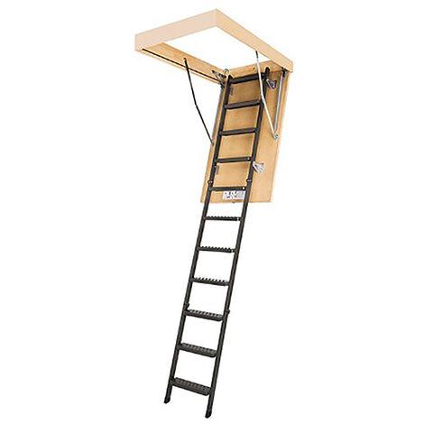 Escalier escamotable sans rampe - Hauteur max. sous plafond 2.80m (plusieurs tailles disponibles)