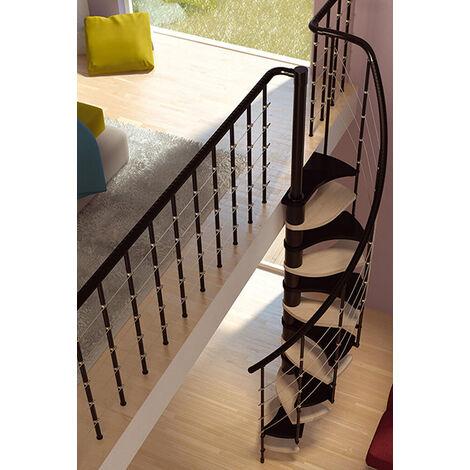 Escalier gain de place -  Ø 1.32m - 2 couleurs de marches (plusieurs tailles disponibles)