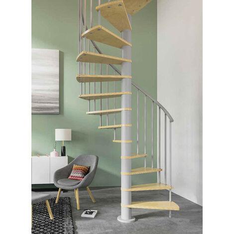 Escalier gain de place - Ø 1.40m - Orientation anti-horaire (plusieurs tailles disponibles)