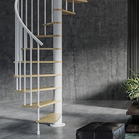 Escalier gain de place - Ø 1.40m - Orientation horaire (plusieurs tailles disponibles)