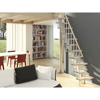 Escalier gain de place - Configuration en I (plusieurs tailles disponibles)