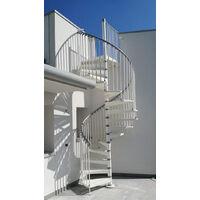 Escalier helicoidal exterieur - Ø 1.20m (plusieurs tailles disponibles)