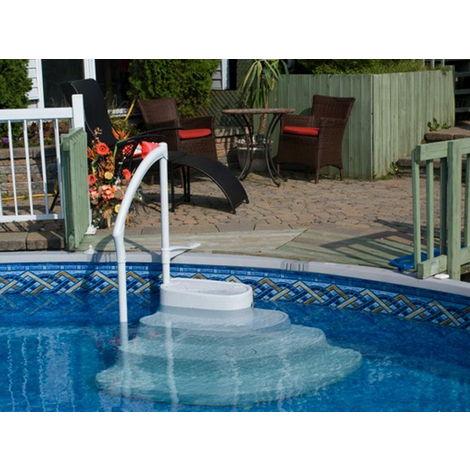"""main image of """"Escalier intérieur Innovaplas MAJESTIC 4 marches avec main courante PVC piscine hors-sol"""""""