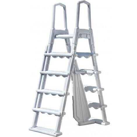 Escalier moulé pour piscines hauteur 1,20 m à 1,32 m de Gre - Échelle, escalier et main courante