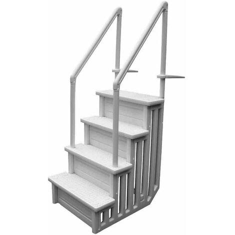 Escalier pour piscine à fond plat H 1,22m à 1,37m