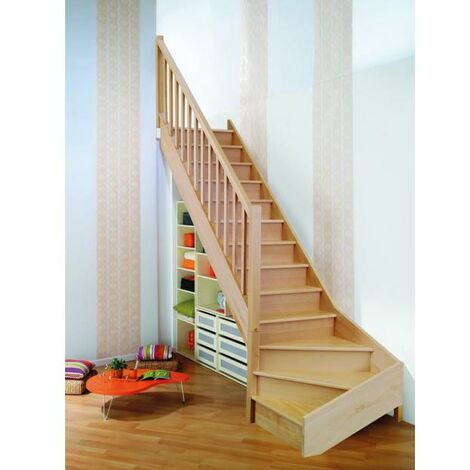 "ESCALIER QUART BAS ONE HETRE RAMPE + BALUSTRADE ""SELECT"" H274 GAUCHE"