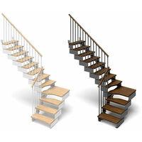 Escalier quart tournant avec rampe modèle Tube (plusieurs tailles disponibles)