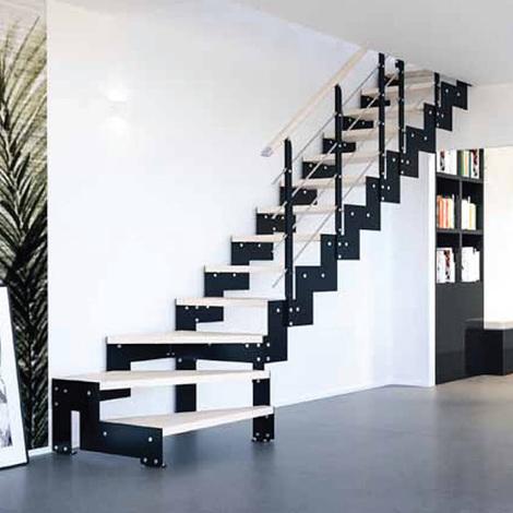 Escalier quart tournant - Quart tournant dans la trémie (plusieurs tailles disponibles)