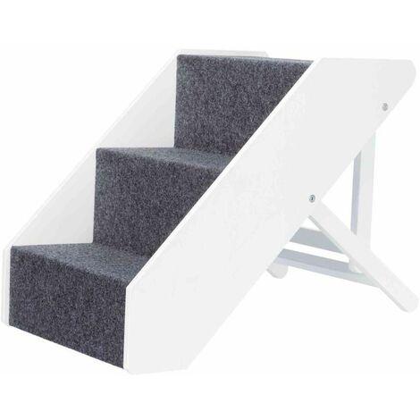 Escalier, réglable en hauteur - 40 × 67 cm, blanc