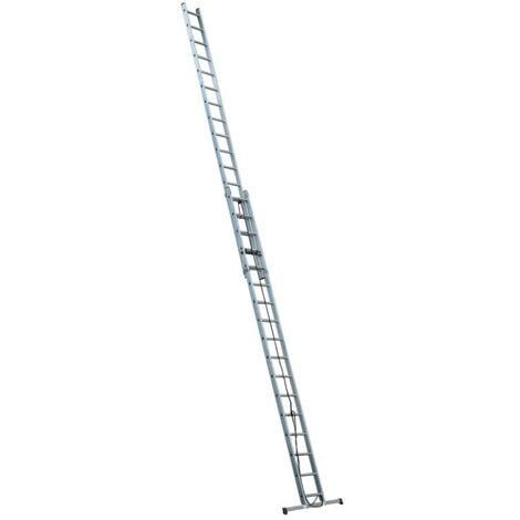 Escalux - Echelle Aluminium semi-professionnelle coulissante à corde 2x17 Haut travail 8,80 m - Escalux EC