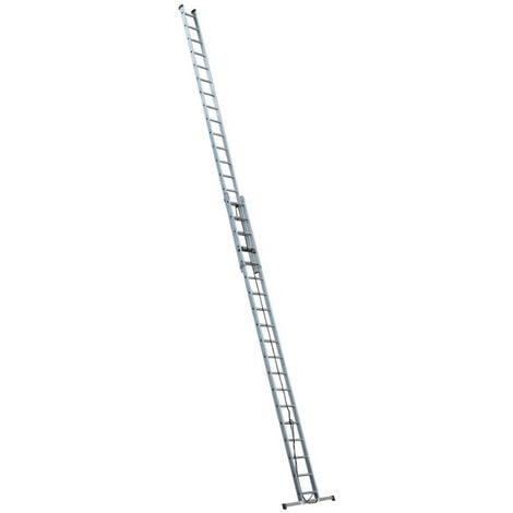 Escalux - Echelle Aluminium semi-professionnelle coulissante à corde 2x19 Haut travail 9,88m - Escalux EC