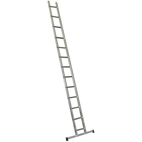 Escalux - Echelle Aluminium semi-professionnelle simple 13 marches Haut travail 4,52 m