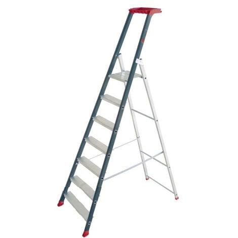 Escalux - Escabeau en aluminium Professionnel 7 marches haut. travail 3,45 m - PROLUX PLUS