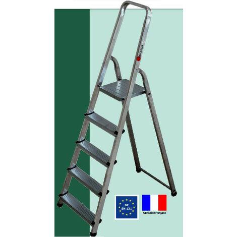 Escalux - Escabeau ménager de sécurité Aluminium 5 marches Hauteur 2,98 m - ALUMIXTE