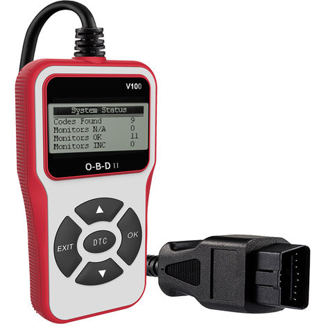 Escaner universal O-B-D II Lector de codigos de falla del motor del automovil